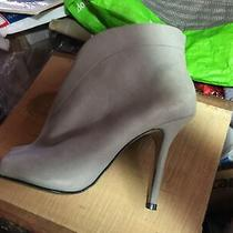 Aldo Grey Suede Open Toe Stiletto Bootie Preowned Brazil Unworn Sz 8 Photo