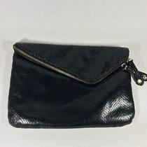 Aldo Handbag Black Foldover Clutch Snakeskin Texture Photo