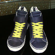 Aldo Hi Top Sneakers Back Zip Fun Shoes Sz 37 Photo