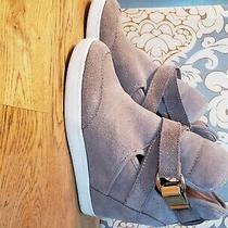 Aldo Hidden Wedge Sneakers Size 8 Beige Photo