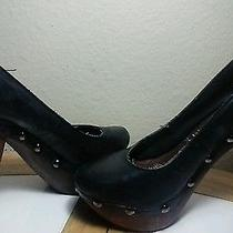 Aldo High Heels Black and Wood Photo