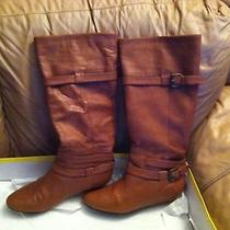 Aldo Leather Boots Cognac Size 39 Photo