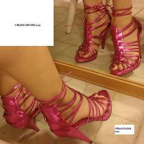 Aldo  Leather Metallic Pink Strappy Heels 7 Stripper/exotic Dancer/club Photo