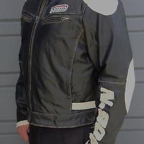 Aldo Leather Motorcycle Jacket Men's Large Photo