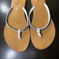 Aldo Leather White Thong Sandal Size 40 Us 7.5 Photo