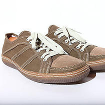Aldo Low Top Dress Sneakers Brown Canvas Men's Eu Sz 44 Us Sz 14 Photo