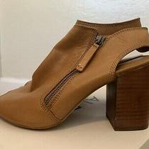 Aldo Manuella Booties Size 8 Open Toe Soft Leather Photo