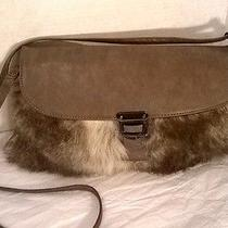 Aldo Mccleer Bag Faux Fur Handbagclutch Wrist Strap Grey Photo