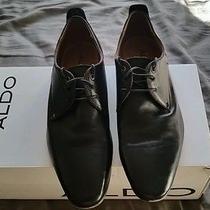 Aldo Mens Black Dress Shoes Sz 9 Nice Photo