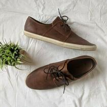 Aldo Mens Casual Shoes Size 13 Brown Lace Up Leather Sneaker  Photo