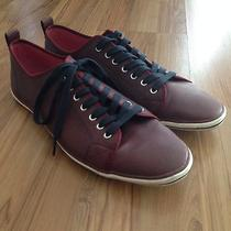 Aldo Mens Low Top Casual Shoes Maroon Size 10.5 Photo