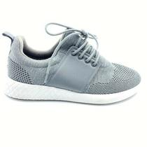Aldo Mens Running Shoes Gray Lace Up Low Top Breathable Athletic Sneakers 6 Photo