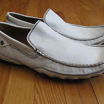 Aldo Mens White Dress Loafers Size 44 Photo