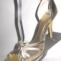Aldo Metallic Soft Gold Genuine Leather d'orsay Heels Pump 9 M 39 Ln Lk B2 Photo