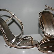Aldo Metallic Strapy Heels Photo