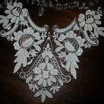 Aldo Necklacecollar Length Costume Jewelry Ivory and Gold Tone Floral  Photo