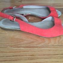Aldo Open Toe Flats Orange  Size 8.5 Photo