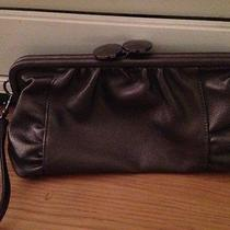 Aldo Pewter Gray Medium Clutch With Wrist Strap Faux Leather Photo