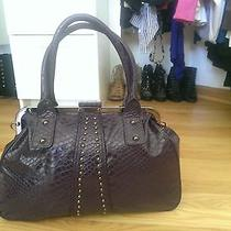 Aldo Purple Snakeskin Handbag Photo