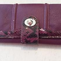 Aldo Purple Snakeskin Wallet Photo
