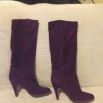 Aldo Purple Suede Boots Photo