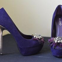 Aldo Purple Suede Platforms Photo