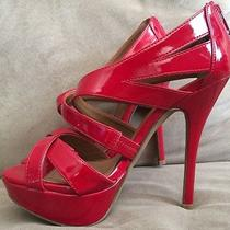 Aldo Red Patent Leather Glossy Heels 6 Work Club Stripper Exotic Dancer Photo