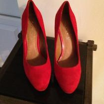 Aldo Red Suede Pumps Photo