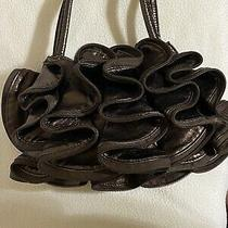 Aldo Ruffle Brown Metallic Handbag Photo