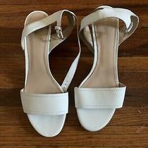 Aldo's Lolla Block Heel Ankle Strap Sandal in White/ivory - Size 9 Photo