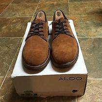 Aldo Shoes Men's Pearsall-36 Brown/blue Suede Us Size 8 Gum Soles Photo