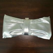 Aldo Silver Bow Clutch With Crystals Photo