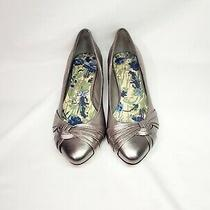 Aldo Silver Flats. With 1