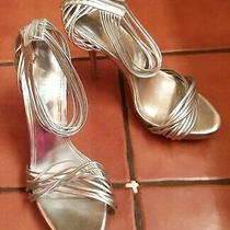 Aldo Silver Platform Stiletto Heels Size 39 Photo