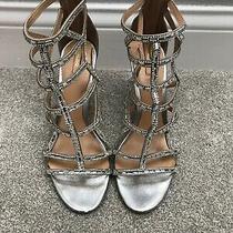 Aldo Silver Rhinestone Heels Size 9 Photo