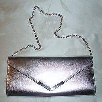Aldo Small Chrome Shoulder Bag. 5 1/2 X 11