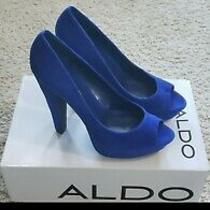 Aldo Suede Peep Toe Heel Sz 38 (8) Photo