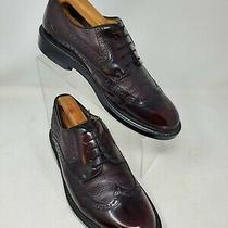 Aldo Sz 43 Mens Us 10d Burgundy Leather Oxford Wingtip Dress Shoe Made in Italy  Photo