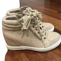 Aldo Sz 6.5 Beige High Top Wedge Sneakers Photo