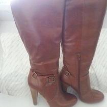 Aldo Sz 6 Cognac Leather Boots Photo