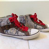 Aldo Tan Snakeskin High/low Tops Womens Size 38/7.5 Photo