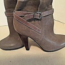 Aldo Taupe/brown H/h Ankle Bootssize 8.6 Eu 39preowned    Sb3 Photo