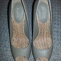 Aldo Taupe Heels Size 38 New in Box Photo