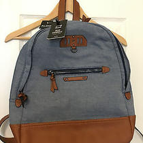 Aldo Tech Friendly Blue Denim Backpack Nwt New  Photo
