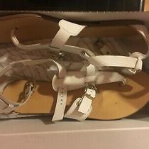 Aldo Tossie Sandal W Size 42 Euro (11 Us) White Leather No Heel Photo