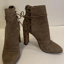 Aldo Ultra High Nude Camel Beige Suede Bootie Heels Pumps Womens Size 8 Photo
