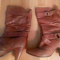 Aldo Western Boots-Cognac Sz 6 Photo