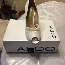 Aldo White Leather  Heels Photo