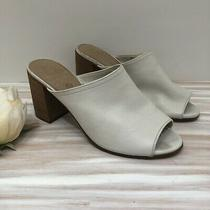Aldo White Leather Mules Size 9 Photo