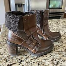 Aldo Women Ankle Leather Boots Size 38 Photo